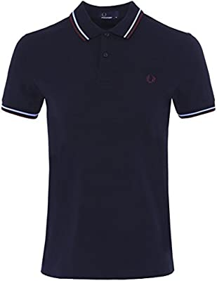 Fred Perry Short Sleeve Twin Tipped Polo Navy