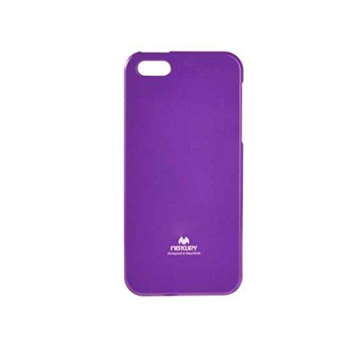 Premium Jelly Case Gummihülle Silikonhülle Gummi Silikon Schale Schutzschale Schutzhülle Hülle für iPhone SE 5 5S Lila Violett mit eingearbeitetem feinem Glitzerstaub (Lila Case 5 Jelly Iphone)