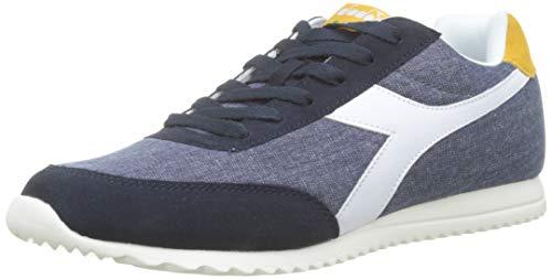 Diadora jog light c, sneaker unisex adulto, (blu profondo/bianco sospiro c4931)), 46 eu