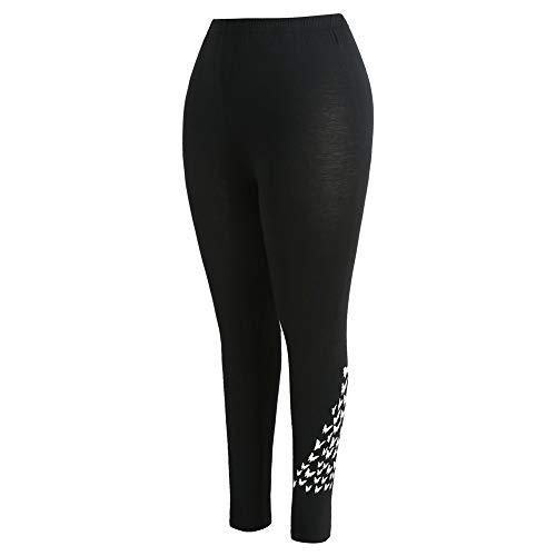 Beonzale Sommer Frauen Plus Größe mittlere Taille Butterfly Print elastische Sporthose Hose Elastische Tummy Control Yoga ()