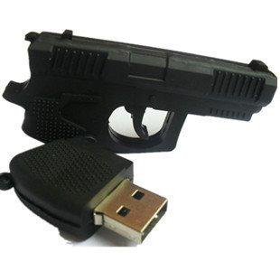 Pistole USB Memory Stick 4 GB Gun Revolver Gadget 2.0 Flash Drive Witziges Geschenk NEU ! Excl. von WoC