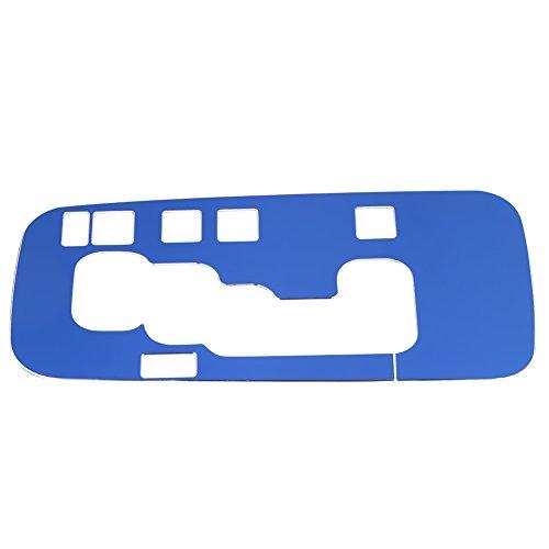 Qiilu Auto Innen Schalthebel Rahmenabdeckung Trim für Jeep Wrangler 2012-2017(Blau)