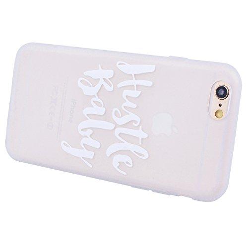 HB-Int für iPhone 6 / 6S Weich Silikon Hülle Licht Durchlässig Transparent Ultra Dünn Schutzhülle Blumen Flexible Full Body Case Bumper Shell Handytasche Baby