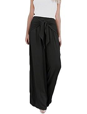 Pantalones Anchos para Mujer Otoño Invierno 2018 Moda PAOLIAN Casual Pantalones Marlene de Vestir Cintura Alta...