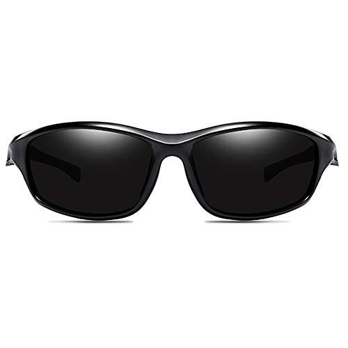 KJDFN Sanddichter Outdoor-Reitsport Polarisiertes PC-Material UV-Schutz UV400-Sonnenbrillentrend Schwarz/Grau/Silber Männer Und Frauen Mit Der Gleichen Absatzsonnenbrille Trend (Farbe : Black)