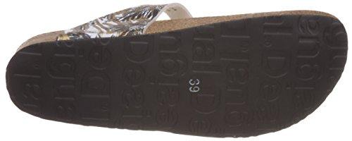 Desigual 61hs5c8 Bio 3, Sandales Plateforme femme Noir - Black (2000 Black)