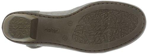 Rieker 41796, Scarpe con Tacco Donna Grigio (Grey/shark / 40)