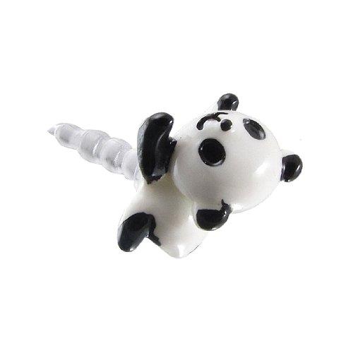 SODIAL(R) Tappo antipolvere panda bianca e nera testa 3,5 mm auricolare per iphone 5 4S