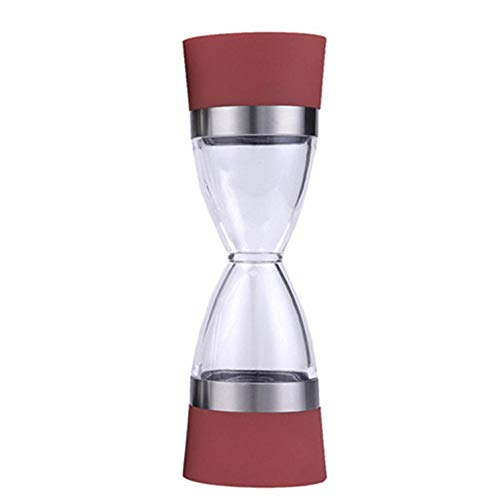 High Quality Stainless Steel Manual Salt Pepper Mill Grinder Grind 2 In 1 Ceramic Coreportable Kitchen Mill Muller Tool,Red (Salt Pepper Grinder Red)