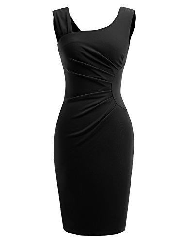 Gardenwed Women's Retro 1950s Style Sleeveless Slim Business Pencil Dress Wear to Work Cocktail Dress