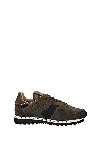 LY0S0952NYMA63 Valentino Garavani Sneakers Homme Tissu Vert Vert