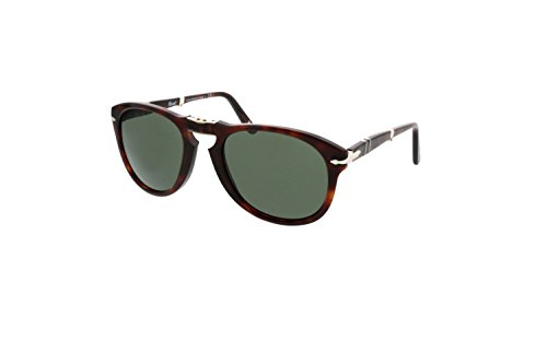 cf1a11fc968 Persol Folding Keyhole Sunglasses in Havana Crystal Green PO0714 24 31 54  54 Crystal Green - Buy Online in Oman.