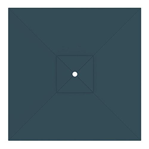 Blu 3 x 3 m//Quadrato paramondo Telo di Ricambio incl Air Vent per Ombrellone da Giardino Interpara