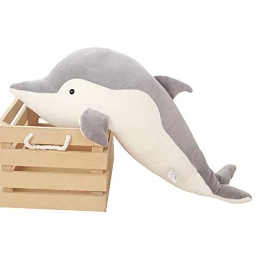 Hootiny Delphin Plüschtier 70Cm Grau Gepolsterte Tier Umarmung Kissen Pad Zeug Puppe (Tier Zeug)