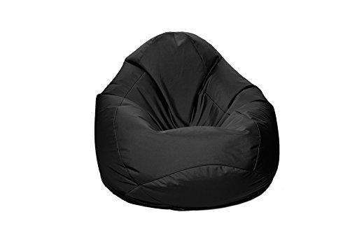 Jumbo Bag 29151-01 Scuba Pouf Poire Polyester Noir 80 x 80 x 130 cm Taille XXL