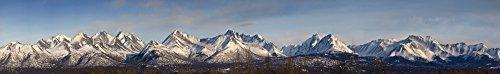 Jim Kohl/Design Pics - Panoramic View of The Chugach Mountain Range Above Anchorage Alaska During Spring Photo Print (91,44 x 12,70 cm)