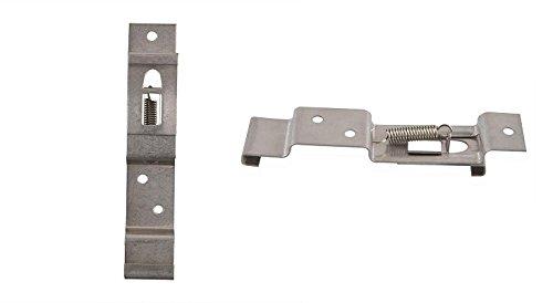 Lot de 2 Pince Support Plaque d'immatriculation Amovible 12cm - Métal