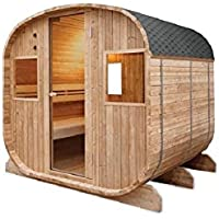 Traditional 6 Seater Barrel Sined Outdoor Sauna