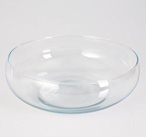 Cuenco / fuente de cristal COCO, 6 cm, Ø 18,5 cm - Bol de vidrio / Bandeja decorativa - INNA Glas