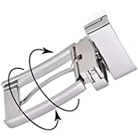 Classic 35 mm Grey and Sliver Metal Reversible Replacement Belt Buckle Single Prong Product Name
