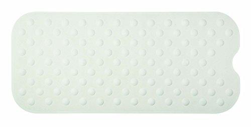 Spirella 10.16768 Duschmatte Anti Rutsch Matte Circola antibakteriell rutschfest waschbar 90x40cm Naturkautschuk PVC Frei Weiß
