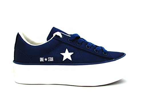 Converse 560988C One Star Platform Ox Sneakers Donna Dress Blue 36