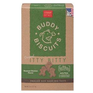 Artikelbild: Cloud Star Cloud-Sterne Itty Bitty Kumpel Kekse Getreide Kostenlos Hund Behandelt Gebratenes Huhn 8 Unzen