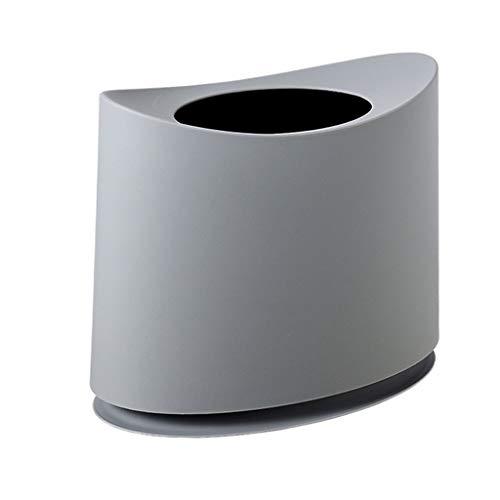 Poubelles 2 Couche 10L sans Couvercle en Papier Panier étroit Cuisine Salon Salle de Bain Multicolore 30 * 20 * 35 cm MUMUJIN (Color : Gray)