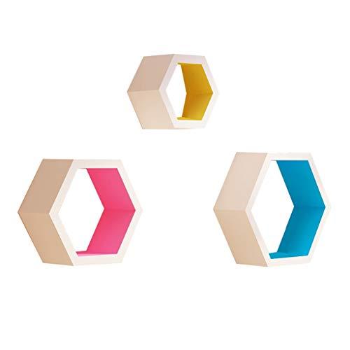 ZTH 3 Stück Set Bücherregal MDF Lagerregal Dekoration Display Stand Einheit Rahmen Leiste Rack Wohnzimmer CD Rack weiß Regal A+ -