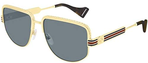 Gucci gg0585s gold/blue (004 yi) oro/blu sunglasses 0585 new 2019