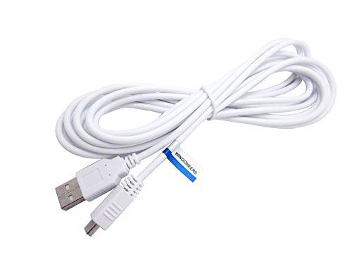 WINGONEER 3M Extra Largo USB Data Sincronización Cargador Energía Cable para Nintendo Wii U Gamepad Controlador(Blanco)