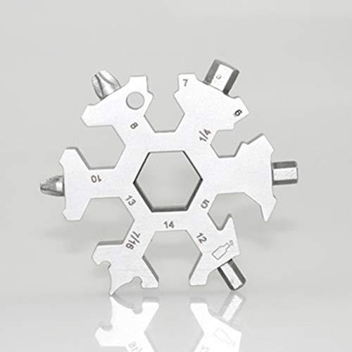 Heaviesk Tragbare Größe multifunktionale Schnee Keychain Werkzeug multifunktions Edelstahl Tasche Outdoor handwerkzeuge -