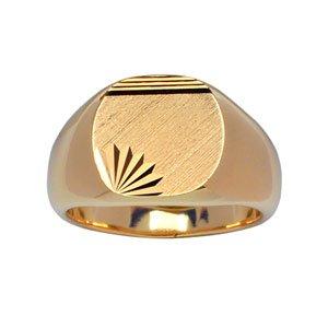 1001 Bijoux - Chevalière plaqué or grand plateau ovale diamanté étoile droit - tour de doigt 69