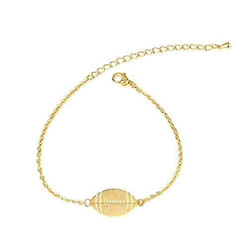 snoil American Football Damen Armband Kette Filigran (Gold)