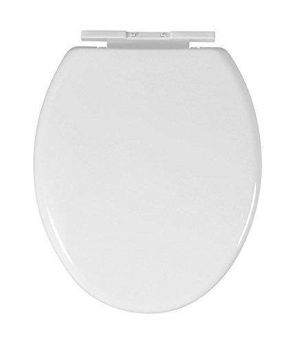 Basong Asiento de Inodoro Tapa WC Cierre Amortiguado Color Blanco