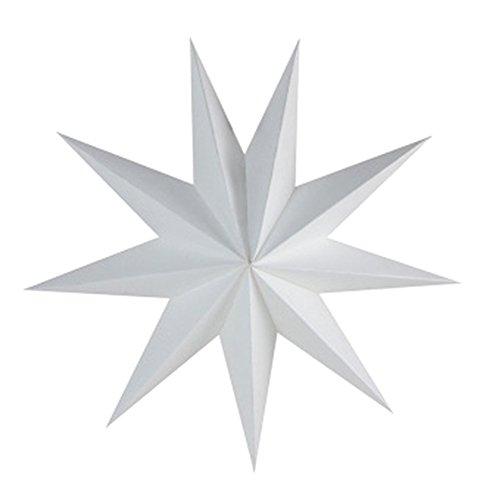 Scrox Lampenschirm aus Papier, Weihnachten, Halloween, Stern, Party, Club, Dekoration für Bühne, Lampenschirm aus Papier, Origami, 30 cm, weiß, 30 cm