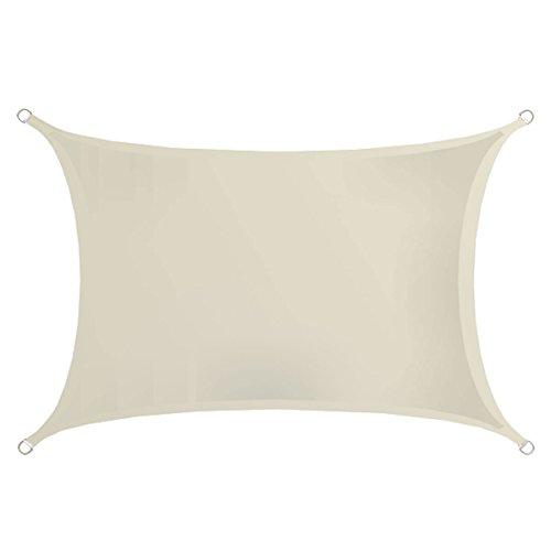 AMANKA UPF50+ Großes Sonnensegel 4x3m Polyester Rechteck Wasserabweisend UV-Schutz Garten-Segel...