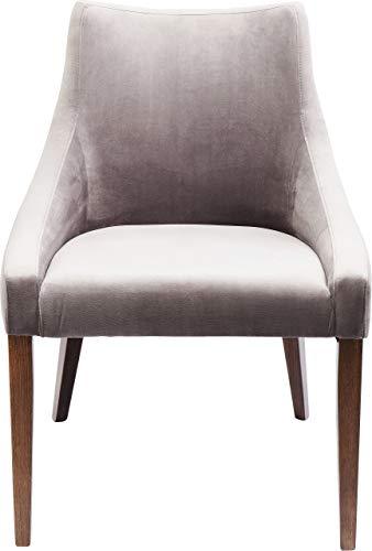 Kare Stuhl Mode Velvet Grau, 83208, eleganter Esszimmerstuhl in Samt, weicher Polsterstuhl ohne Armlehne, (HxBxT) 87x60x70cm