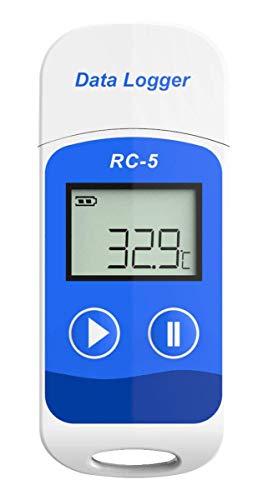 Temp Recorder (LHJCN USB Temperatur Datenlogger, Hohe Genauigkeit Datenlogger Temp Recorder 32000 Punkte Kapazität)