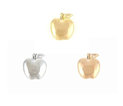 RicVanMur Charm - Apple / Apfel passend für Charmband / Mesh Armband (Silber) Van Apple