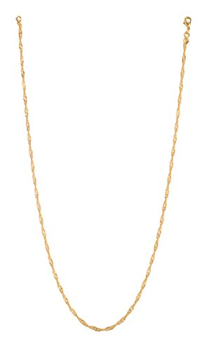 Arisidh Latest Stylish Design 22k micron Gold Plated Chain for Women and Girls.