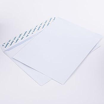 100 Stück Kompaktbrief Briefumschläge weiß Haftklebung