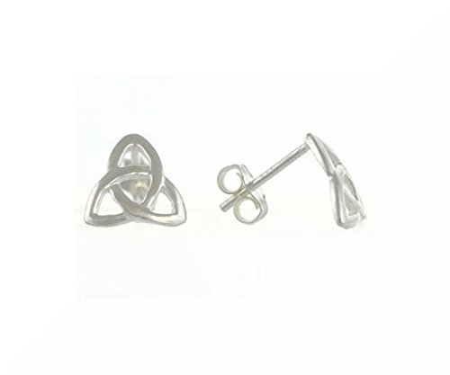 Nodo celtico, argento Studs/scatola regalo