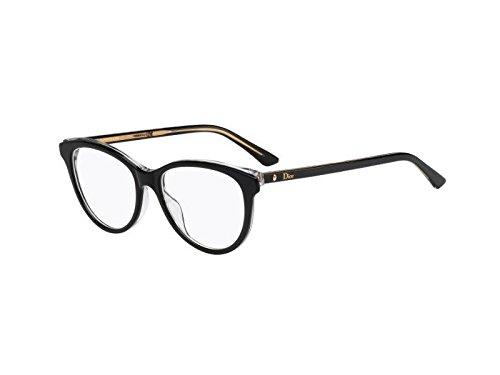 Dior Brillen Für Frau MONTAIGNE17 G99, Black / Crystal Kunststoffgestell, 53mm