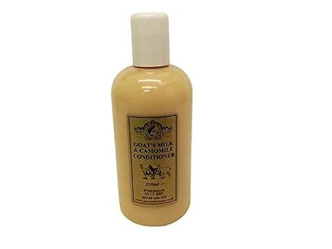Lait de chèvre et Camomille Après-shampoing 250ml par Elegance Soin naturel pour la peau pour traiter le psoriasis l'eczéma sec peau Dermatite rosacée