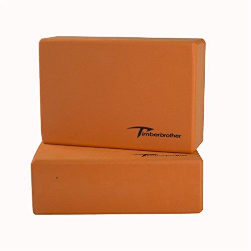 Timberbrother Juego de 2 Espuma EVA Bloques de Yoga(Naranja, 23 x 15 x 7.6cm (2pc))
