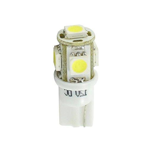 Planet Line PL054W Ampoules LED T10 W5W 5LED Smd5050 12V, Blanc, Set de 2