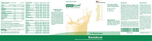 BCM Modicur Basis Vanille 1 Dose à 500g (24 Portionen/BCM Diät/Eiweißshake/BCM BodyCellMass)