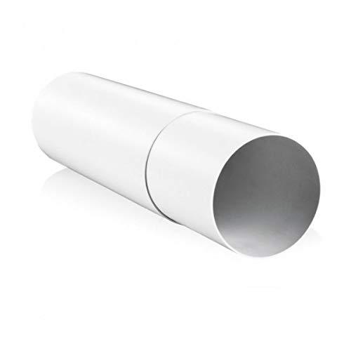 Blauberg UK 12,7cm 125mm rund Kunststoff und für Abluftventilator Ventilation-Mauer Extension Sleeve-125mm - Vent End Plug