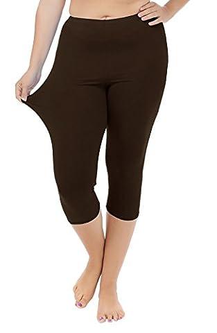 Funray - Legging - Femme marron marron foncé XXL